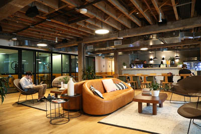 The interior of WeWork Pyrmont, a co-working space in Sydney