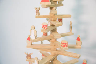 A wooden christmas tree made by sydney business One Two Tree